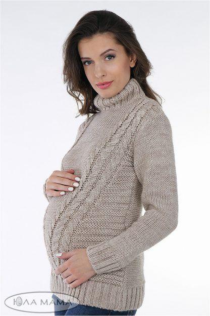 вязаный свитер для беременных