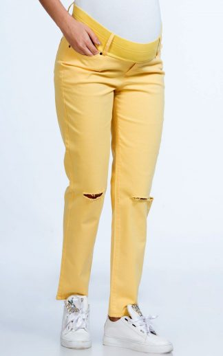 c9919b4af1dd брюки для беременных желтые с бандажом под живот